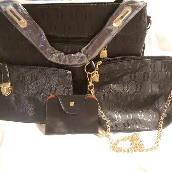 Set of 3 gorgeous handbags and wallet